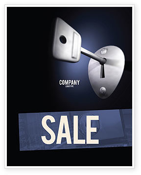 Key Sale Poster Template, 05857, Business Concepts — PoweredTemplate.com