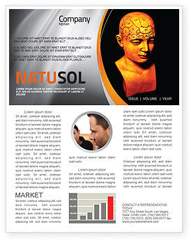 Medical: Psychology Model Newsletter Template #05863