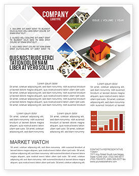Planning For Building Suburb Newsletter Template, 05866, Construction — PoweredTemplate.com