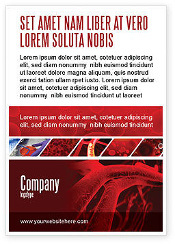 Medical: Arteries Ad Template #05868