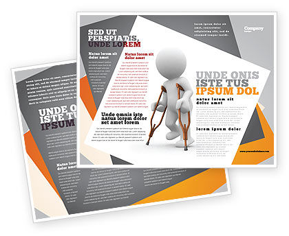 Medical: Cripple Person Brochure Template #05876