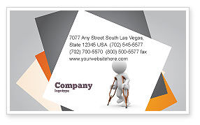 Medical: Cripple Person Business Card Template #05876