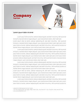Medical: Cripple Person Letterhead Template #05876