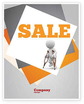 Cripple Person Sale Poster Template, 05876, Medical — PoweredTemplate.com