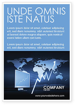 Consulting: Stock Market Jumping Rate Ad Template #05883