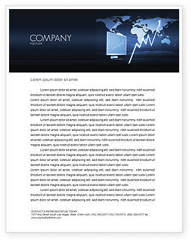 Consulting: Stock Market Jumping Rate Letterhead Template #05883