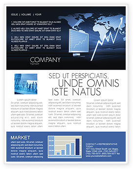 Stock Market Jumping Rate Newsletter Template