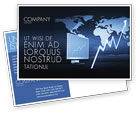 Consulting: Stock Market Jumping Rate Postcard Template #05883