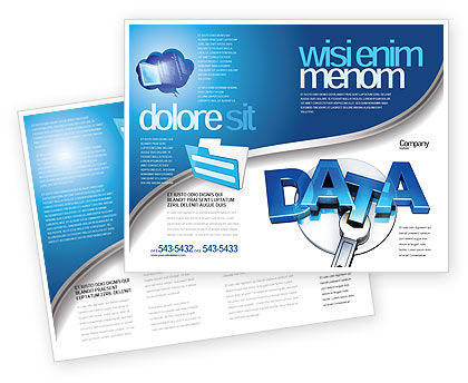 Data Safety Brochure Template, 05887, Technology, Science & Computers — PoweredTemplate.com