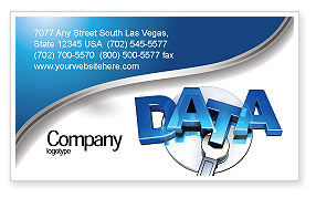 Technology, Science & Computers: Data Safety Business Card Template #05887
