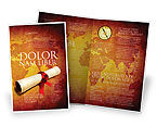 Careers/Industry: Treasure Map Brochure Template #05910