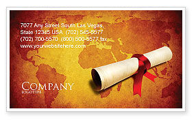Careers/Industry: Treasure Map Business Card Template #05910