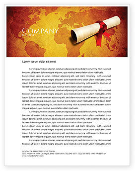 Careers/Industry: Treasure Map Letterhead Template #05910