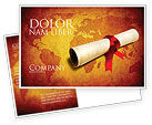 Careers/Industry: Treasure Map Postcard Template #05910