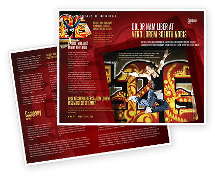 People: Break Dance Brochure Template #05913