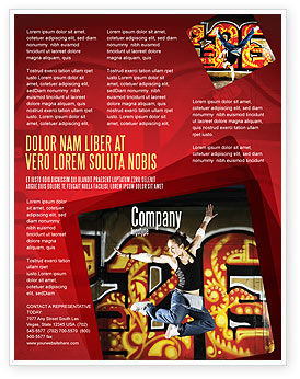 People: Break Dance Flyer Template #05913