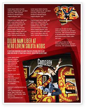 Break Dance Flyer Template, 05913, People — PoweredTemplate.com