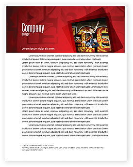 People: Break Dance Letterhead Template #05913