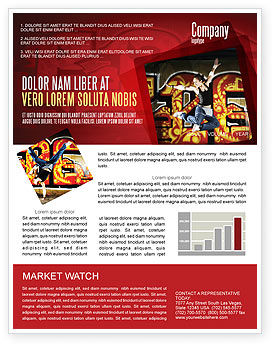 Break Dance Newsletter Template, 05913, People — PoweredTemplate.com