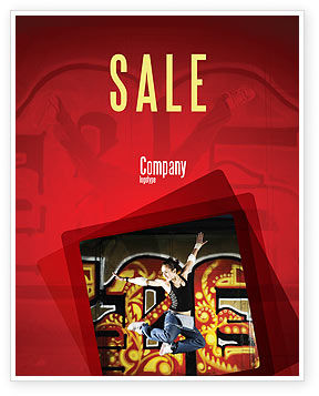 Break Dance Sale Poster Template, 05913, People — PoweredTemplate.com