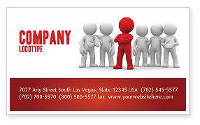 Business Concepts: Team Leader Business Card Template #05914