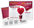 Careers/Industry: Fuchsia Heart Brochure Template #05917