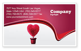 Careers/Industry: Fuchsia Heart Business Card Template #05917