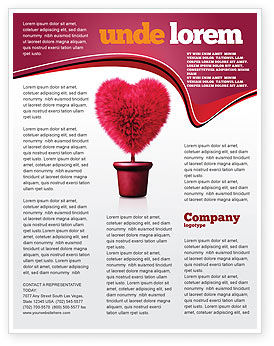Fuchsia Heart Flyer Template