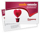 Careers/Industry: Fuchsia Heart Postcard Template #05917
