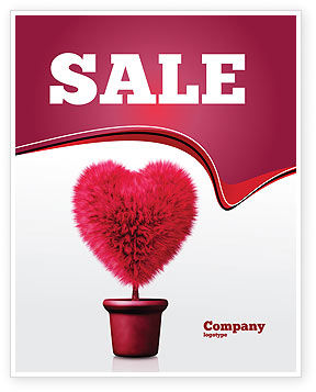 Careers/Industry: Fuchsia Heart Sale Poster Template #05917