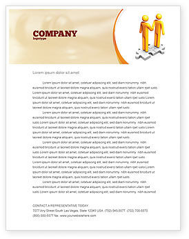 Business Concepts: Handshaking Letterhead Template #05920