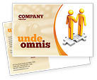 Business Concepts: Handshaking Postcard Template #05920
