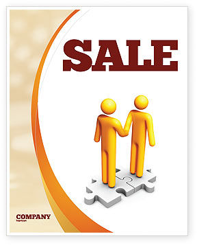 Handshaking Sale Poster Template, 05920, Business Concepts — PoweredTemplate.com