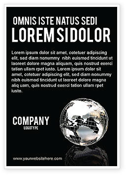Global: Silver Globe Ad Template #05921
