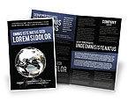 Global: Modelo de Brochura - globo de prata #05921