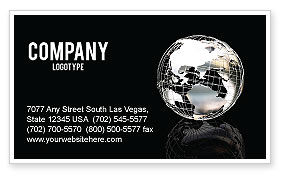 Global: Silver Globe Business Card Template #05921