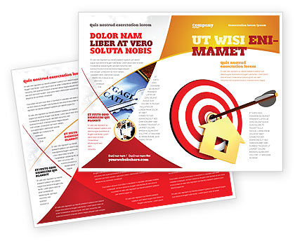 House Target Brochure Template, 05927, Consulting — PoweredTemplate.com