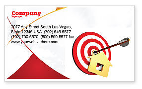 House Target Business Card Template, 05927, Consulting — PoweredTemplate.com