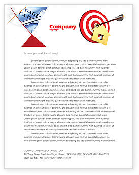 House Target Letterhead Template, 05927, Consulting — PoweredTemplate.com