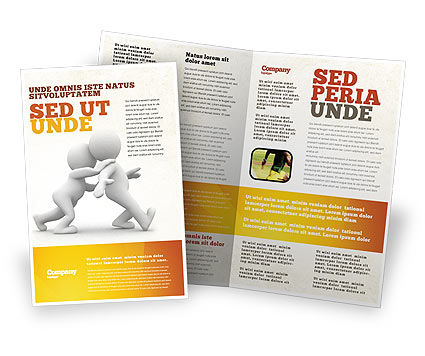 Persuasion Brochure Template, 05930, Consulting — PoweredTemplate.com