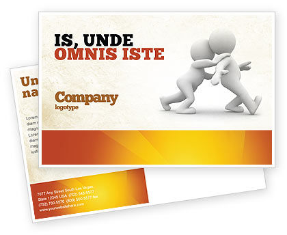 Persuasion Postcard Template, 05930, Consulting — PoweredTemplate.com