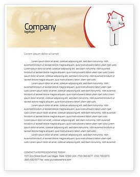 Consulting: House Schuld Briefpapier Template #05934