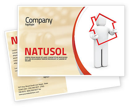 Consulting: House Debt Postcard Template #05934