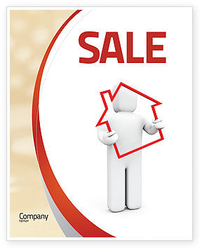 House Debt Sale Poster Template, 05934, Consulting — PoweredTemplate.com