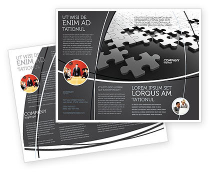 Consulting: Zilver Puzzel Brochure Template #05940