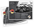 Consulting: Silver Puzzle Brochure Template #05940