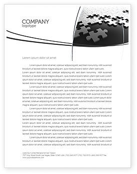 Silver Puzzle Letterhead Template, 05940, Consulting — PoweredTemplate.com