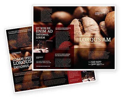 Food & Beverage: Modèle de Brochure de les grains de café en couleur marron #05941
