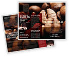 Food & Beverage: Coffee Beans In Brown Color Brochure Template #05941