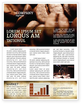 Food & Beverage: Coffee Beans In Brown Color Newsletter Template #05941